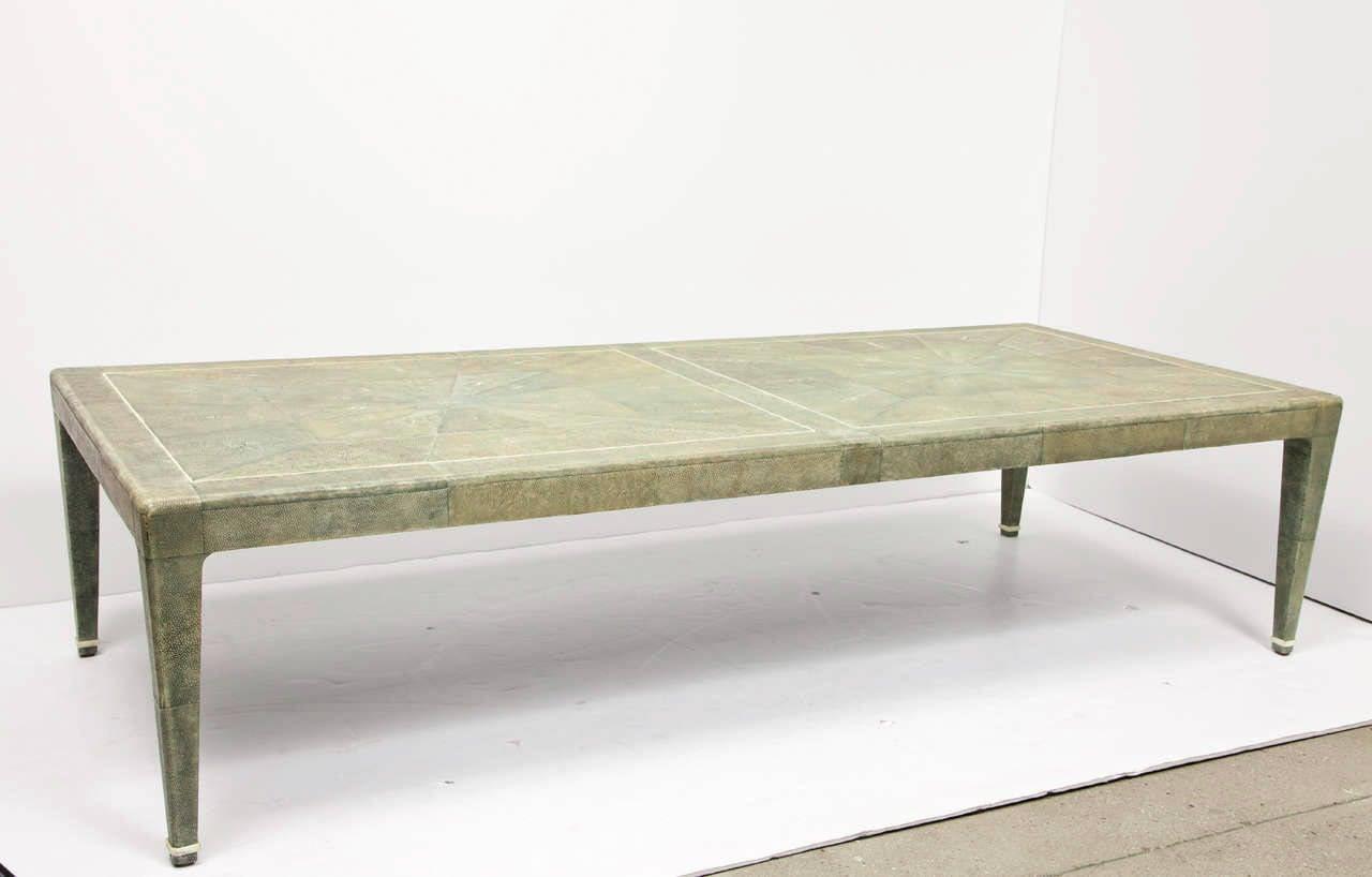 original shagreen cocktail table in the manner of karl springer image