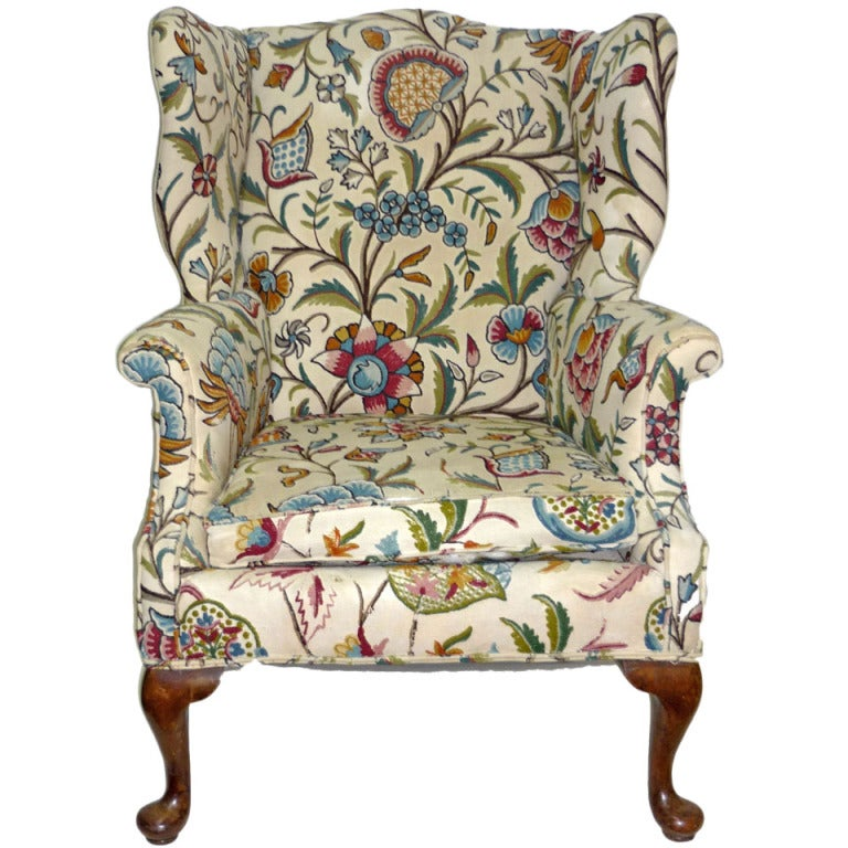 George Iii Style Mahogany Wing Chair At 1stdibs