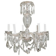 Superb French Crystal Beaded And Gilded Six Light