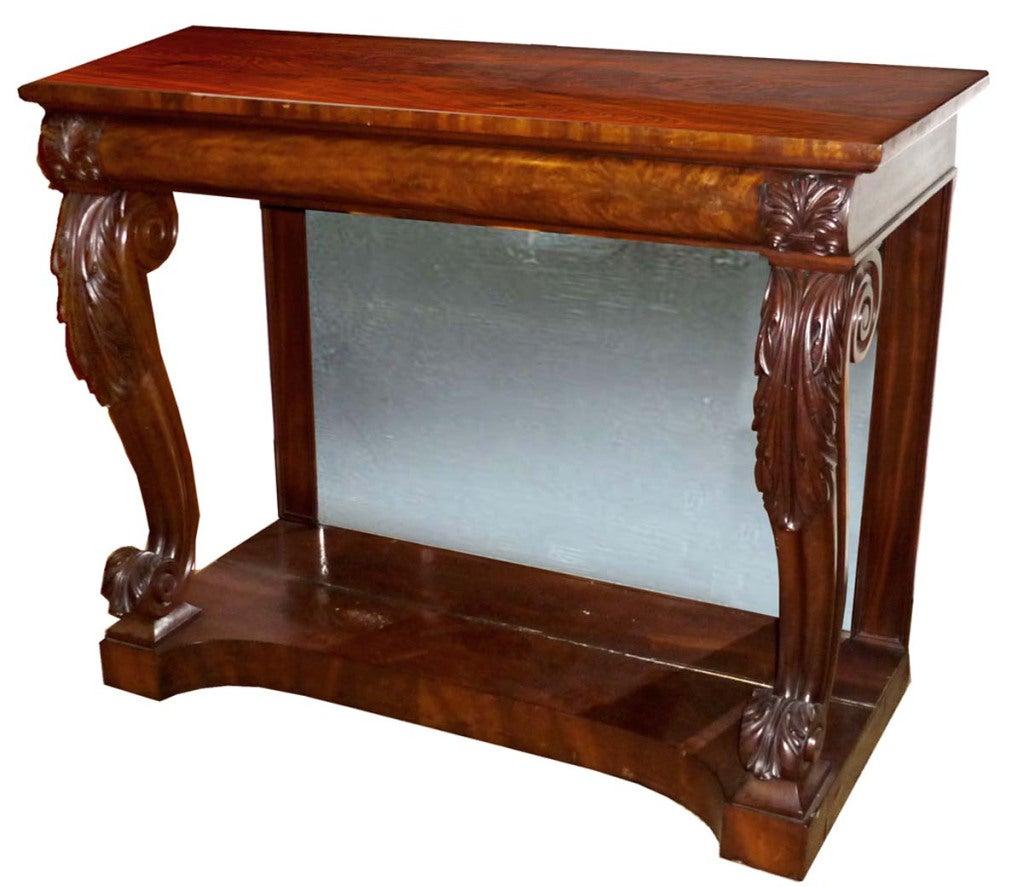 english regency mahogany console pier table at 1stdibs