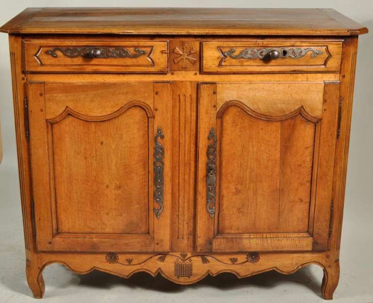 18th Century French Provincial Fruitwood Buffet For Sale