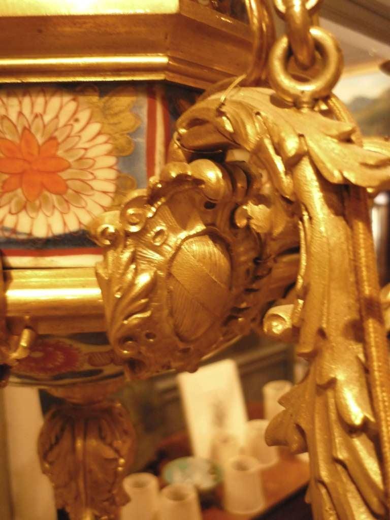 19th C Louis Xv Bronze Dore And Imari Eight Light