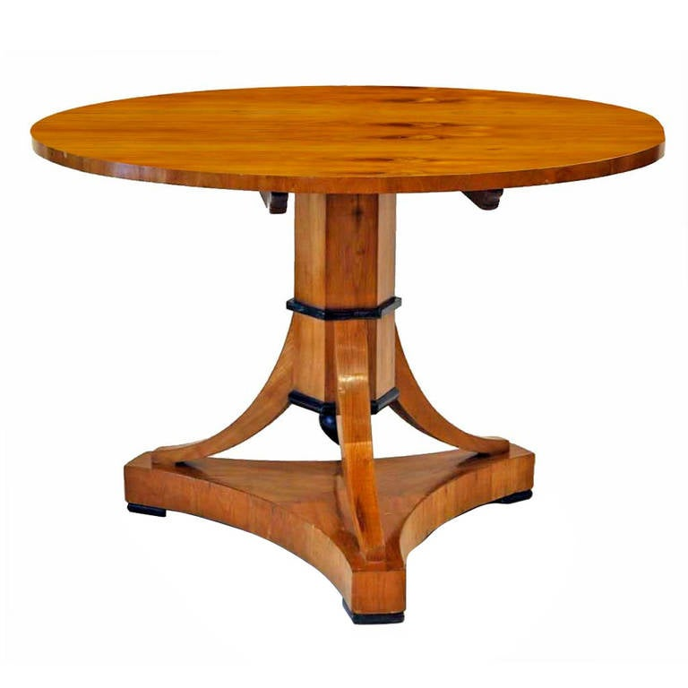 Early 19th Century Biedermier, Bois Claire Center Table at 1stdibs