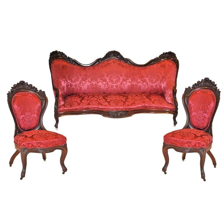 John Henry Belter Set Of Seating Furniture At 1stdibs