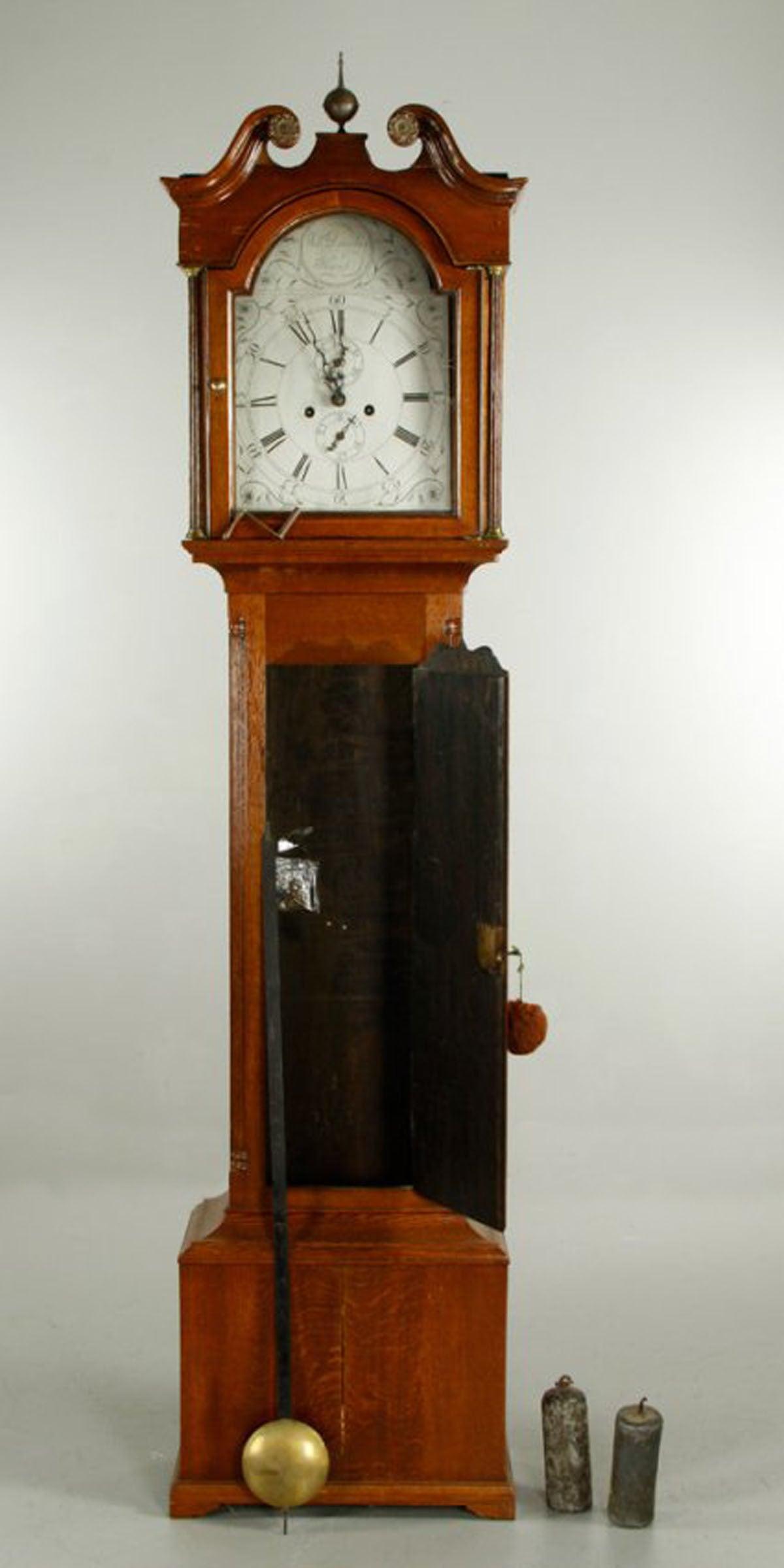 Scottish Oak Tall Case Clock By William Douglas Of Hawick