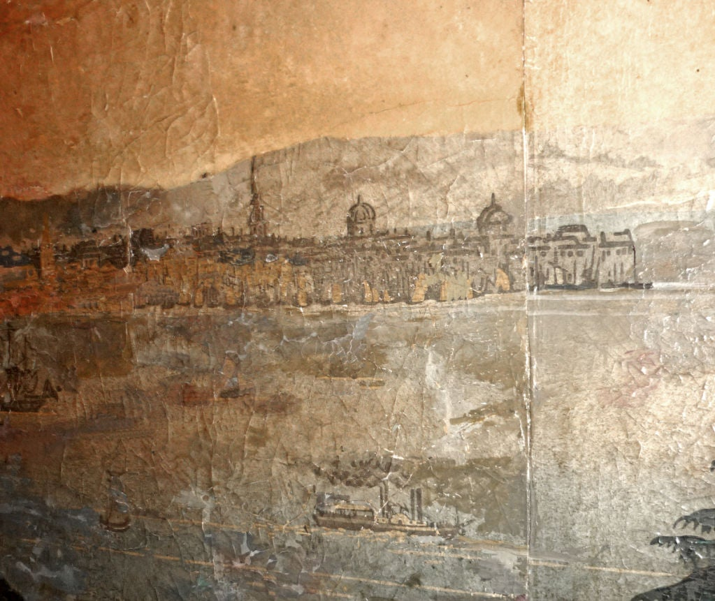zuber wallpaper panels depicting new york bay at 1stdibs