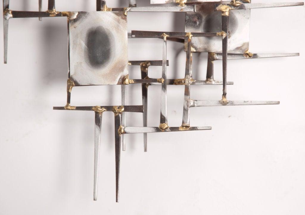 metal mural sculpture at 1stdibs. Black Bedroom Furniture Sets. Home Design Ideas