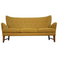 Early Scandinavian Wingback Sofa