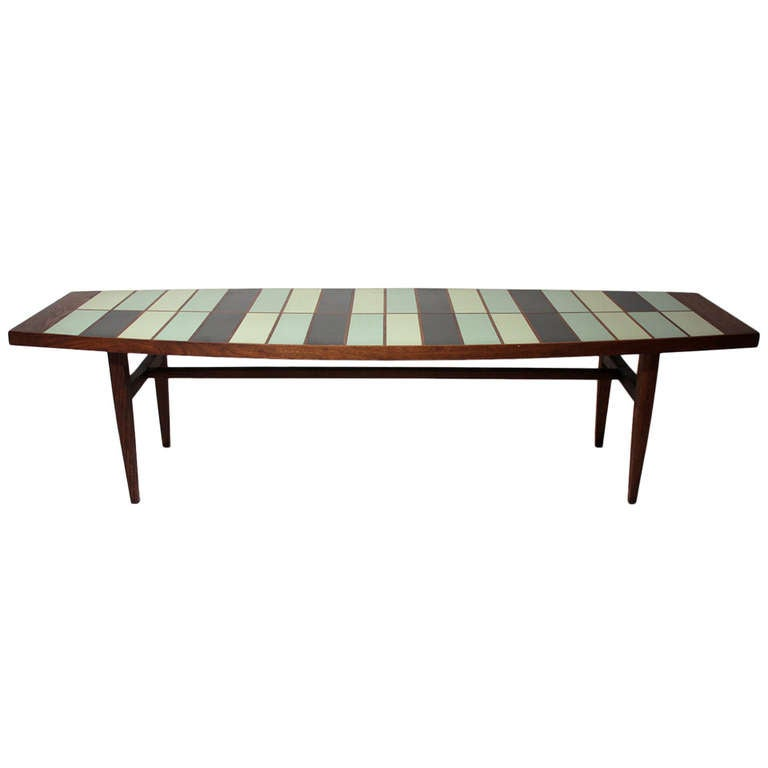 Walnut And Resin Cocktail Table At 1stdibs