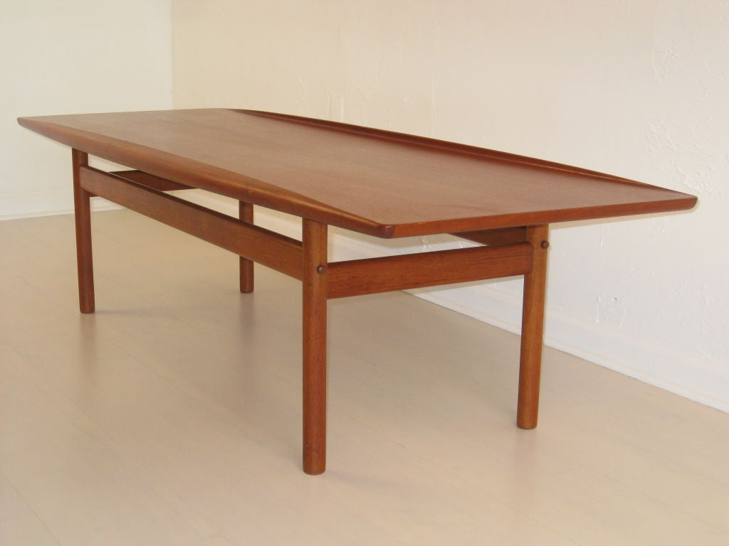 Sculpted Danish Teak Coffee Table By Grete Jalk At 1stdibs