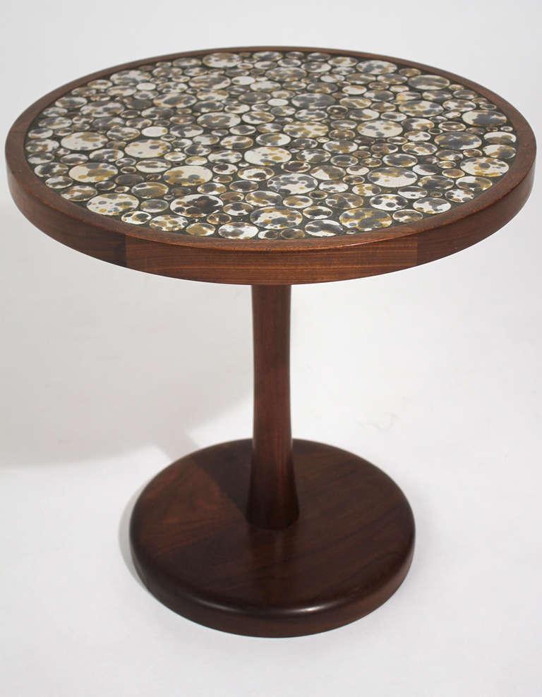 Gordon Martz Ceramic Top Side Table At 1stdibs