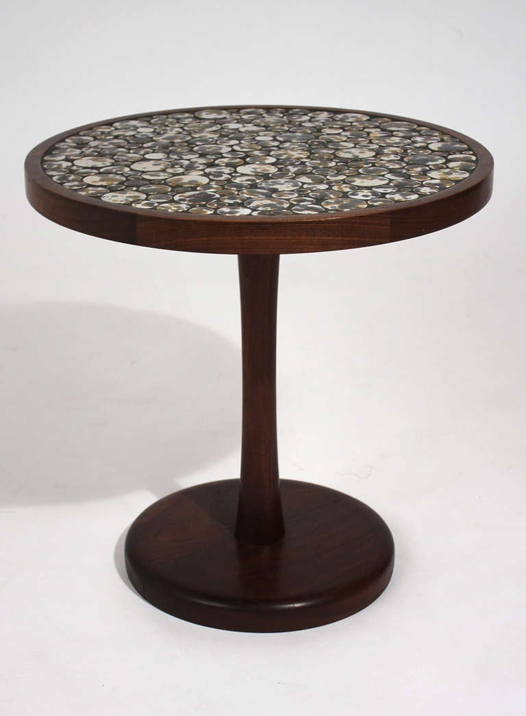 Gordon Martz Ceramic Top Side Table At 1stdibs