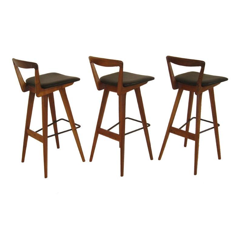 3 Bar Stools By Henry Rosengren Hansen At 1stdibs