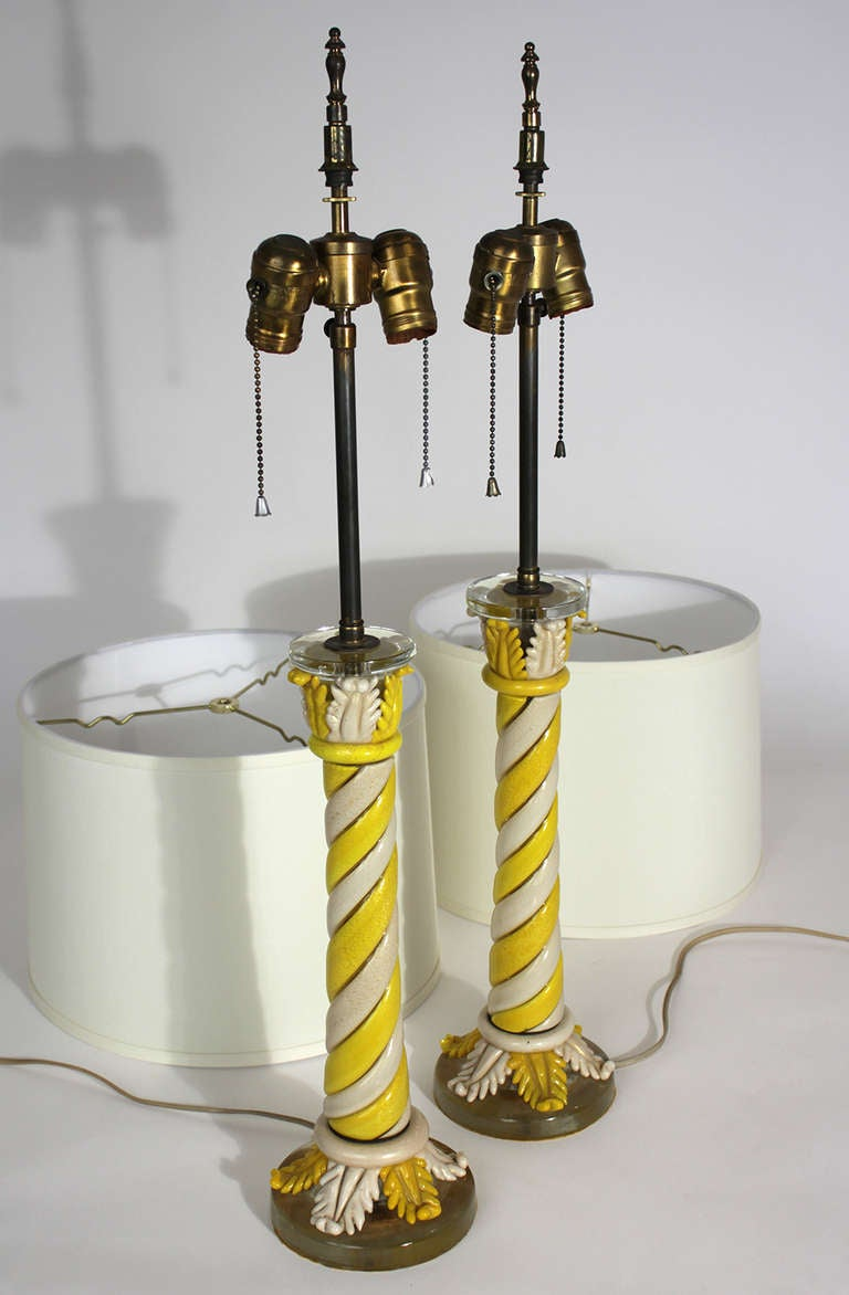 Murano Pair of Table Lamps For Sale 1