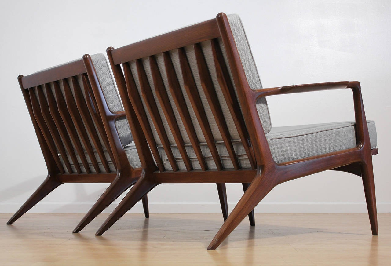 This sculptural pair of lounge chairs by ib kofod larsen is no longer - Ib Kofod Larsen Lounge Chairs 2