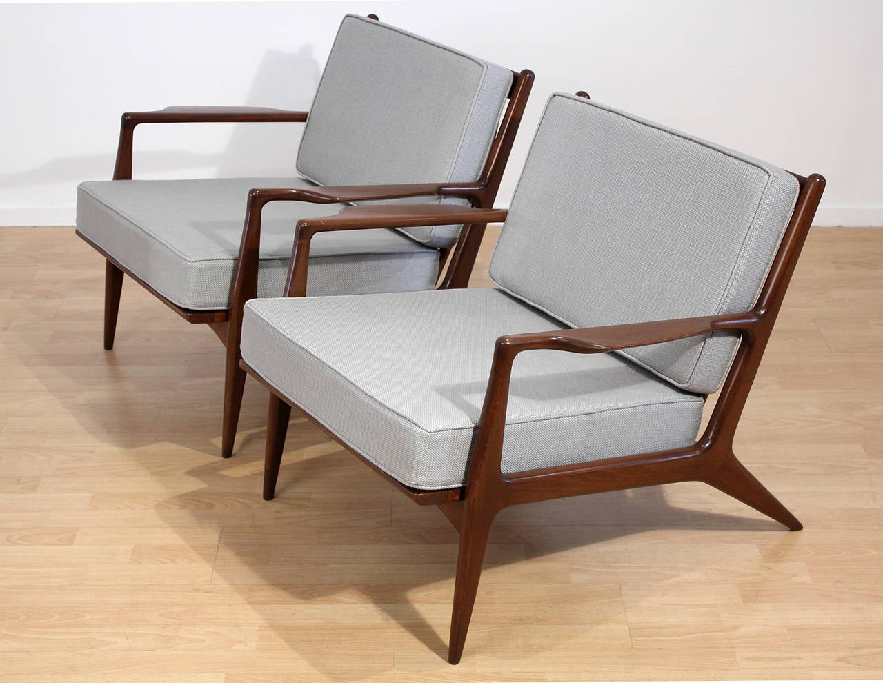 This sculptural pair of lounge chairs by ib kofod larsen is no longer - Ib Kofod Larsen Lounge Chairs 3