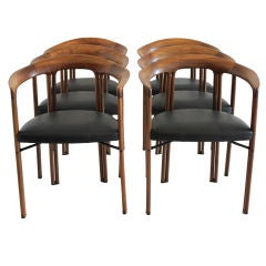 Set of Six Dining Chairs by Franco Poli