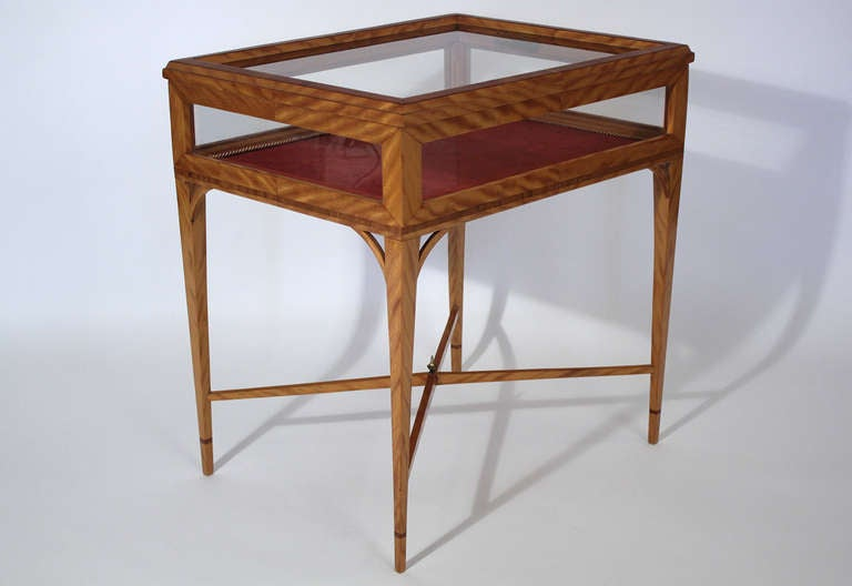 American Handmade Vitrine Display Case Side Table For