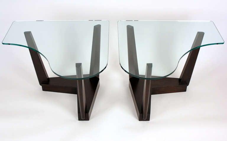 Hollywood Regency Paul Laszlo Custom End Tables For Sale