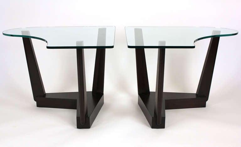 American Paul Laszlo Custom End Tables For Sale