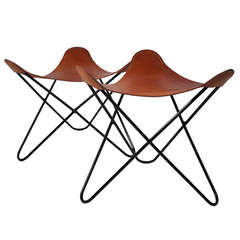 Knoll Butterfly Chair Ottoman or Stool Pair