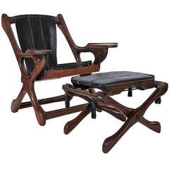 "Don Shoemaker ""Swinger"" Chair & Ottoman"