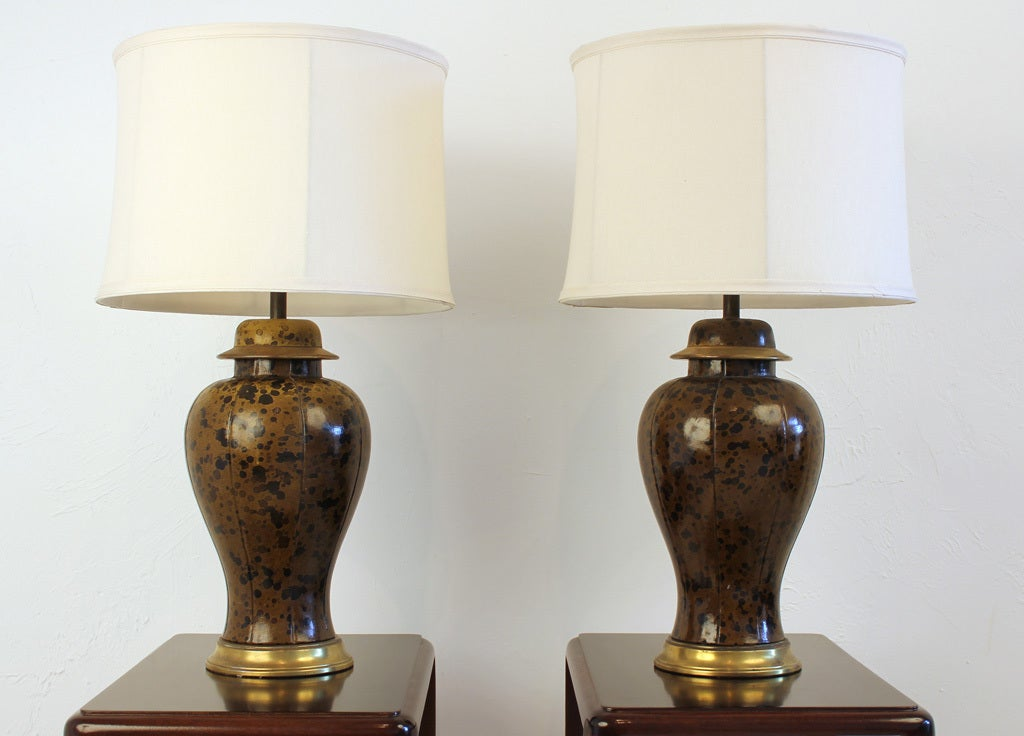 Leather Wrapped Lamps 2