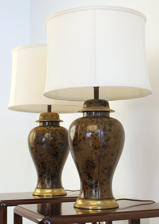 Leather Wrapped Lamps 3