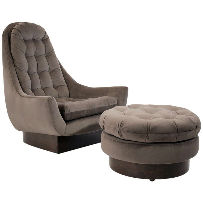 Swivel Lounge Chair And Ottoman At 1stdibs