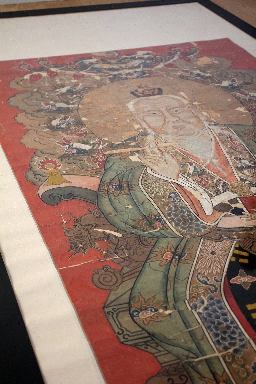 Antique Chinese Imperial Emperor Ancestral Painting In Good Condition For Sale In San Diego, CA