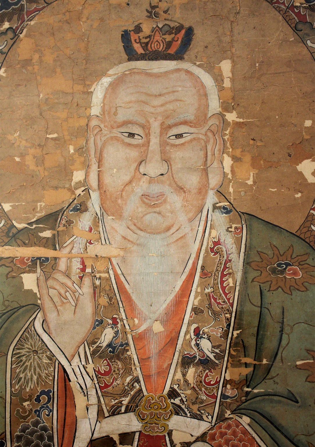 18th Century and Earlier Antique Chinese Imperial Emperor Ancestral Painting For Sale