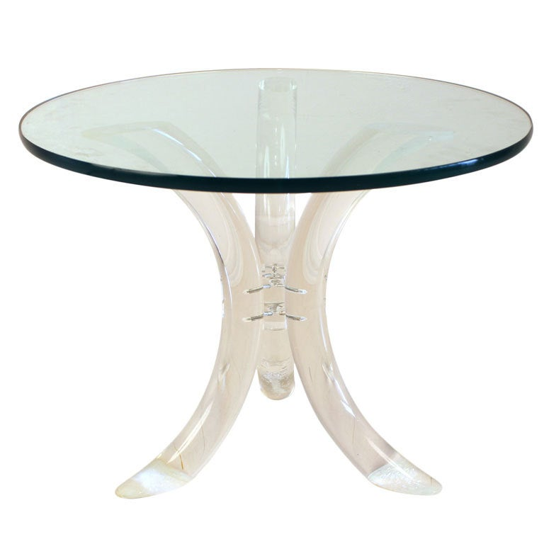 Lucite Side Table at 1stdibs
