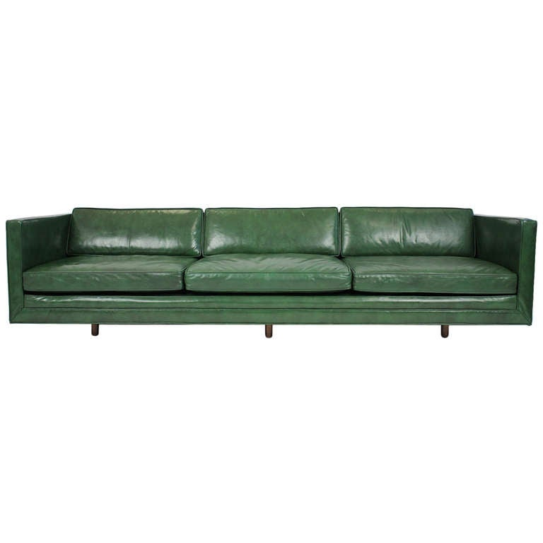 Harvey Probber Leather Sofa For
