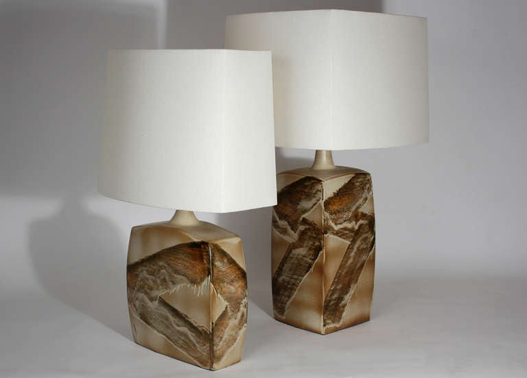 20th Century Pair of Ceramic Table Lamps For Sale
