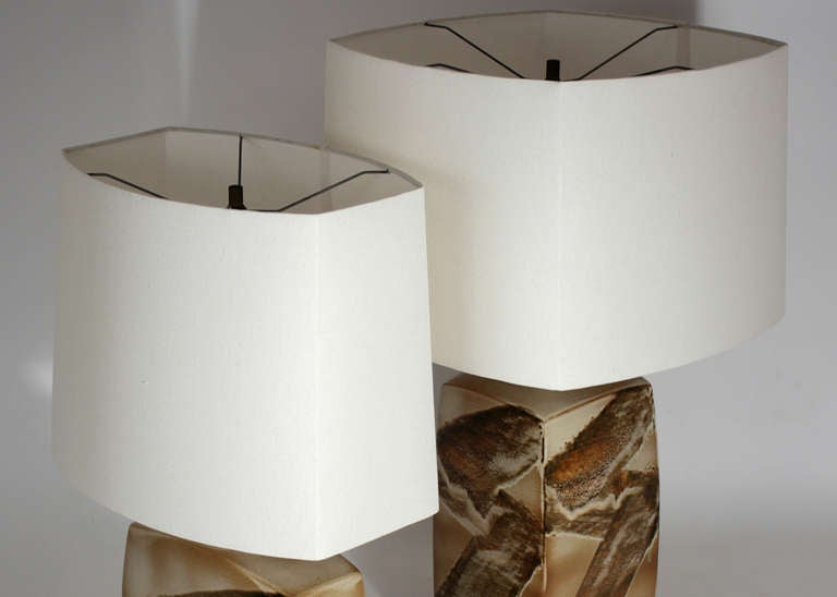 Pair of Ceramic Table Lamps For Sale 2