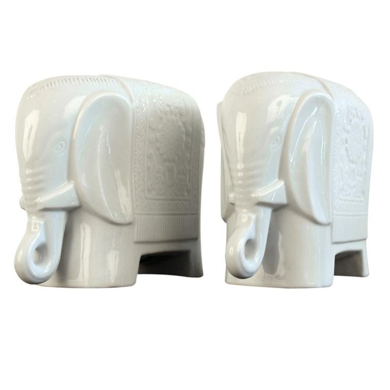 Maitland-Smith elephant bookends, 1980s