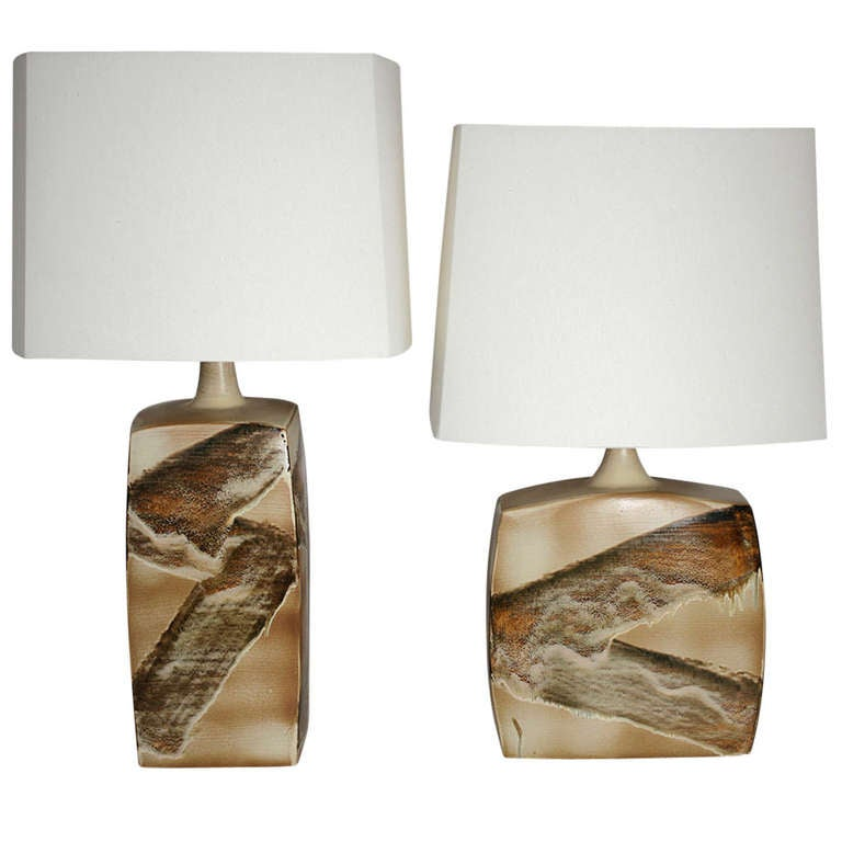 Pair of Ceramic Table Lamps For Sale