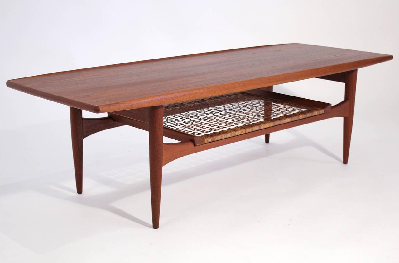 Hans Wegner Danish Modern Teak Coffee Table For Sale At 1stdibs