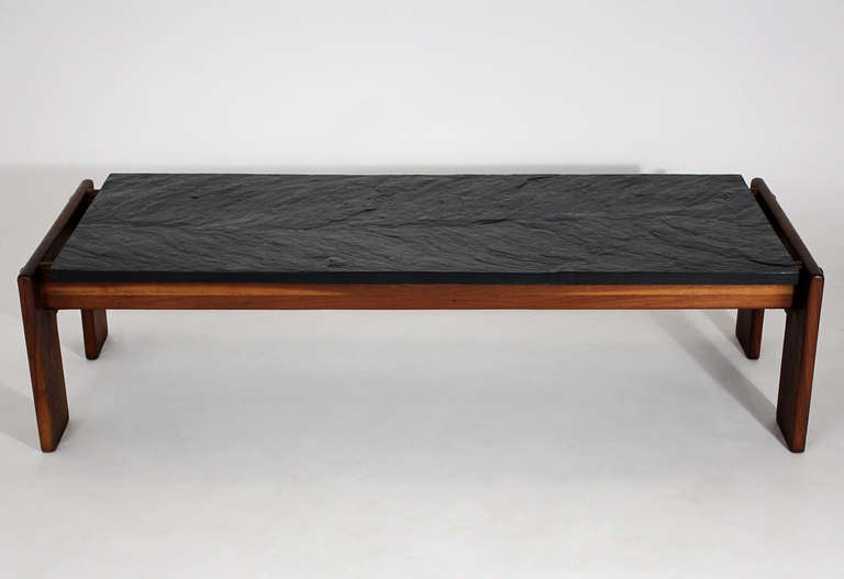 Modernist Slate Top Coffee Table For Sale At 1stdibs
