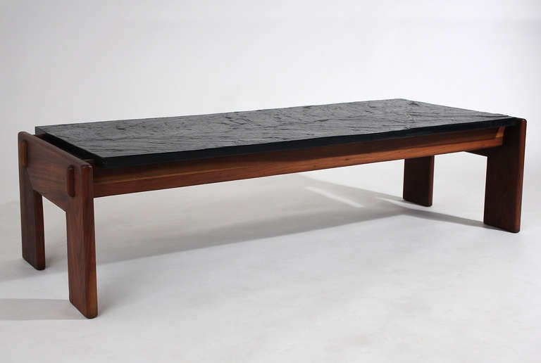 Modernist Slate Top Coffee Table For Sale At 1stdibs: slate top coffee tables