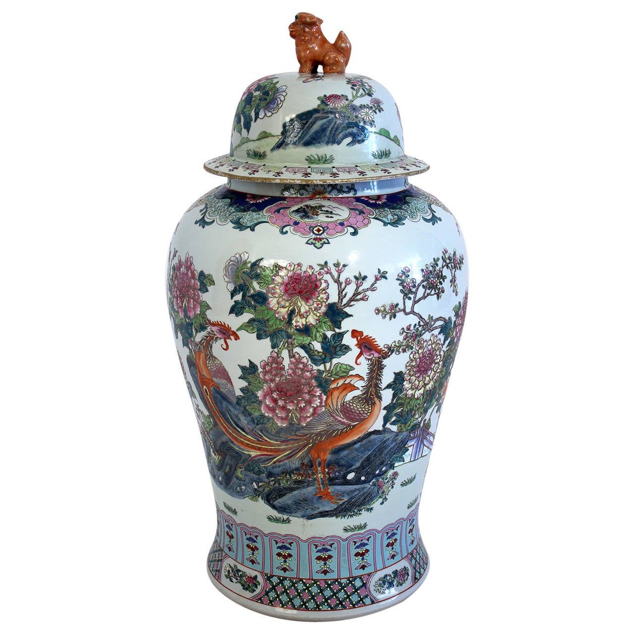 Antique Chinese Lidded Floor Vase At 1stdibs