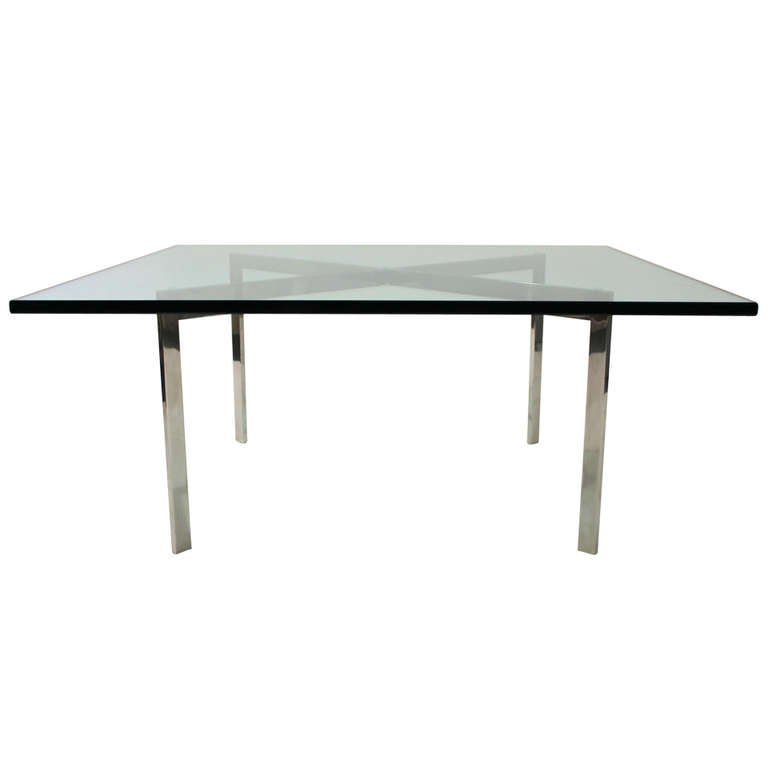 knoll mies van der rohe barcelona table at 1stdibs. Black Bedroom Furniture Sets. Home Design Ideas