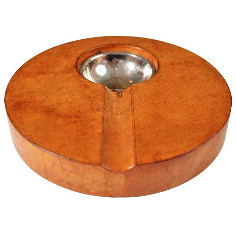 Diego Matthai Leather Wrapped Cigar Ashtray At 1stdibs