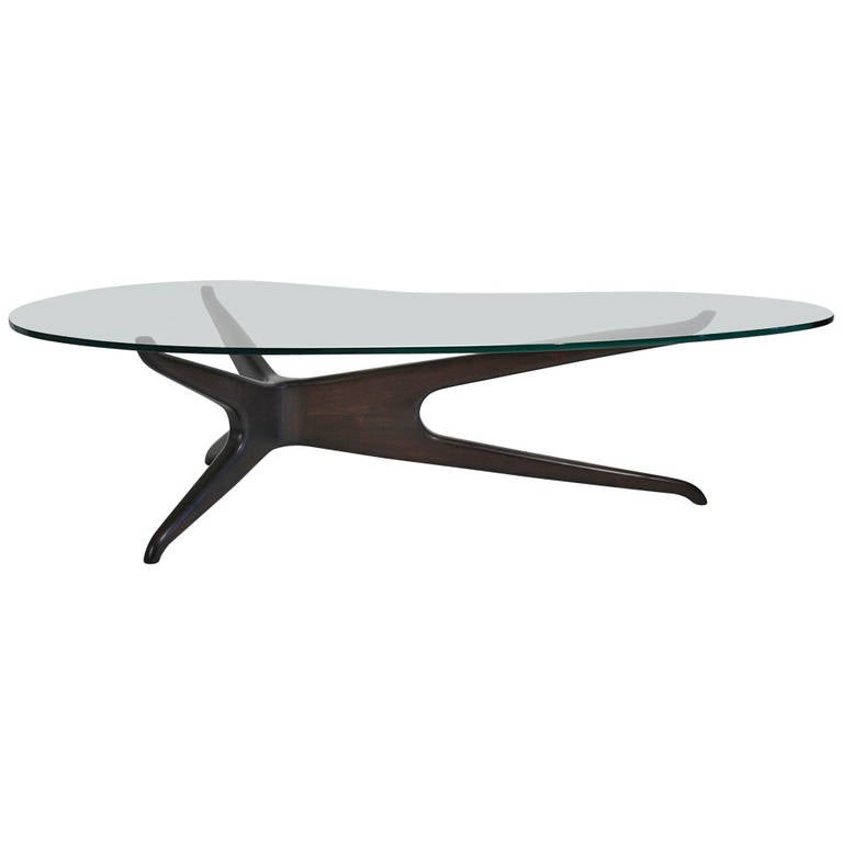 Vladimir Kagan Style Tri Symmetric Coffee Table At 1stdibs