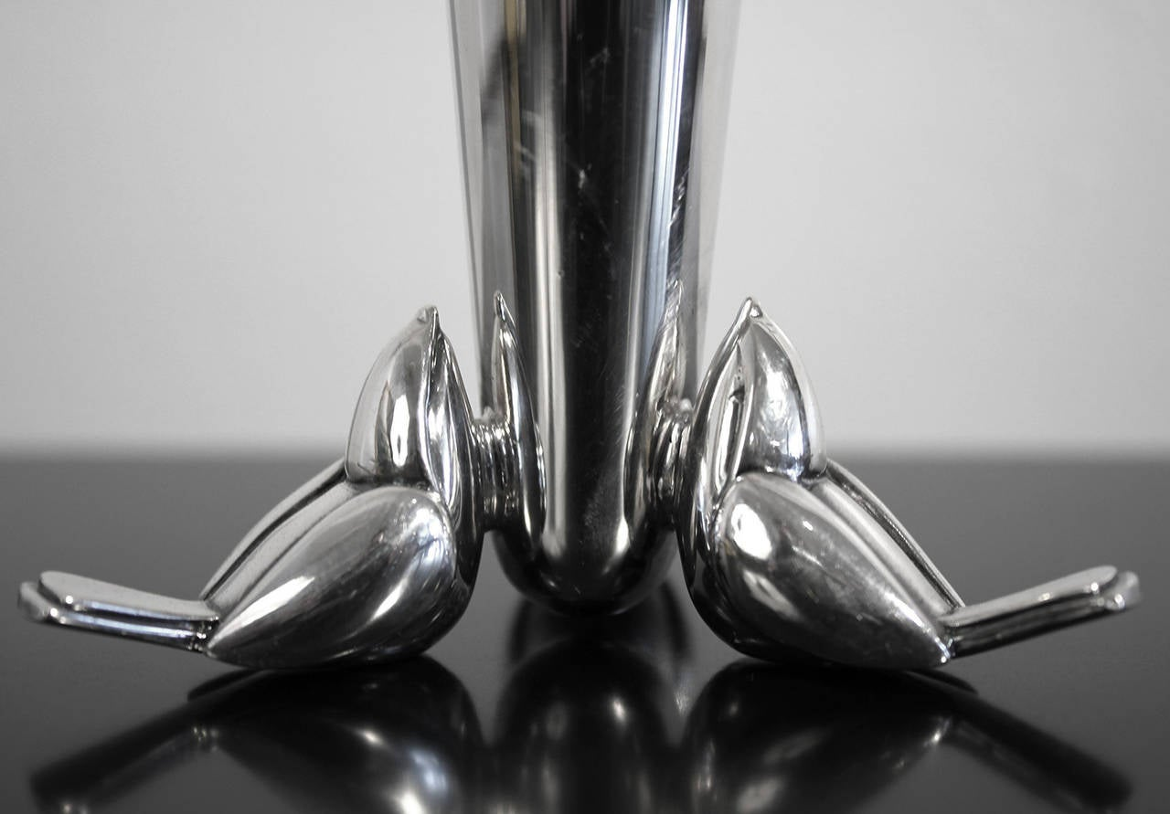 Christofle Silver Plate Bud Vase In Excellent Condition For Sale In San Diego, CA