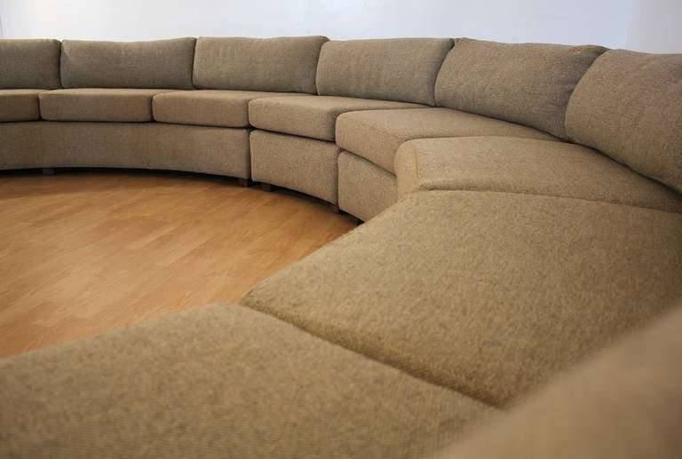 Milo Baughman Large Sectional Curved Sofa at 1stdibs