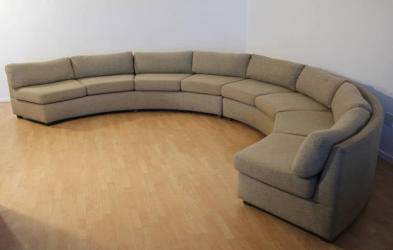This Milo Baughman Large Sectional Curved Sofa is no longer available.