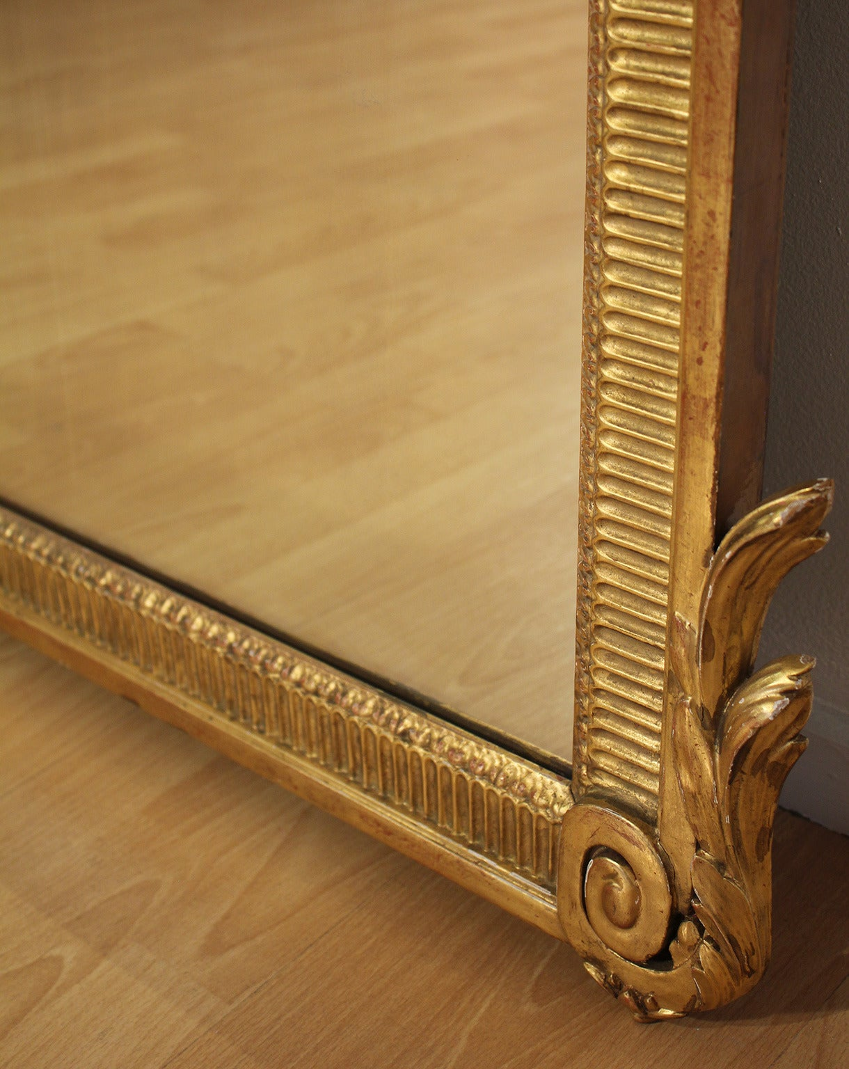 Large Antique French Neoclassical Decorative Gold Framed Mirror image ...