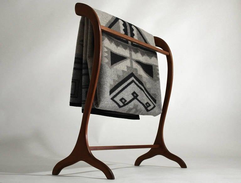Danish Modern Teak Quilt Holder Or Blanket Rack At 1stdibs