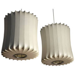 George Nelson for Howard Miller, Pair of Bubble Lamps